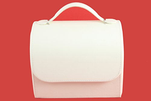 Vieworld Bag Design Jewelry Box, Faux Leather, Ivory