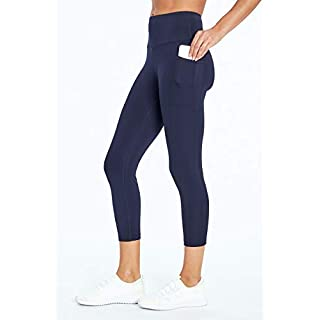 Bally Total Fitness High Rise Pocket Mid-Calf Legging, Midnight Blue, Medium