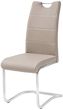 Tuoni Idra Set Sedia, Finta Pelle, Metallo Cromato, Cappuccino, 4 Pezzi 8034041649548 8034041649548SKU_CAPPUCCINO sedie