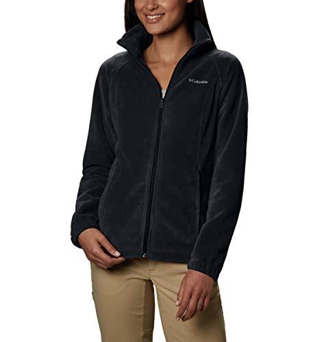 Columbia Women's Benton Springs Classic Fit Full Zip Soft Fleece Jacket, Black, LG