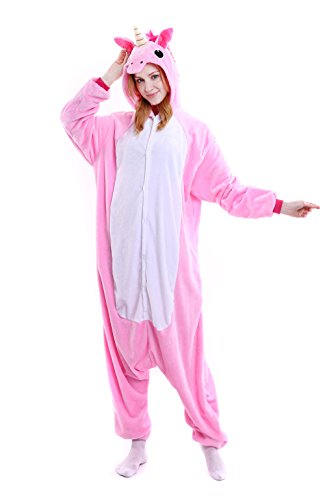 Unicorn Onesie Adult – Feelme Unisex Onesies Pajamas Kigurumi Cosplay Sleepsuit Costume Animal Jumpsuit - Cheap Couples Fancy Dress Costumes Uk