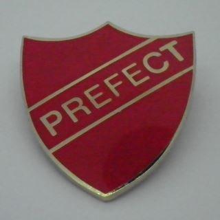 Prefect Enamel School Shield Badge - Red - Pack of 10