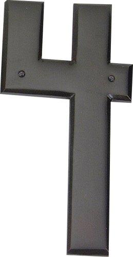 Atlas Homewares Craftsman Knob - Atlas Homewares RCN4-O 5.5-Inch Mission House Number-4, Aged Bronze