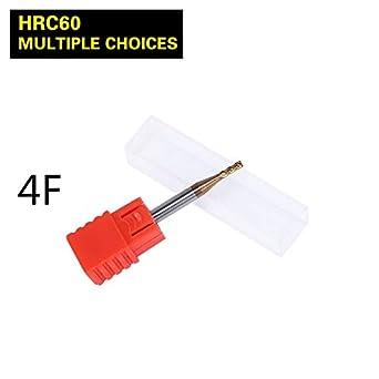 Cortador de fresado 4F D1/D1.5/D2/D2.5/D3/D450L HRC60 ...