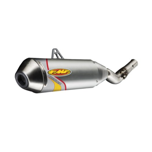 FMF Racing PowerCore 4 Spark Arrestor Slip-On , Color: Natural, Material: Stainless Steel 041048 - Fmf Powercore 4 Silencers