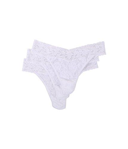 Hanky Panky Women's Signature Lace Original Rise Thongs - One Size - White , (Pack of -