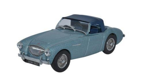 (Oxford Diecast Ah1001 Austin-healey 100 Bn1 [hood] Healey Blue By Oxford)
