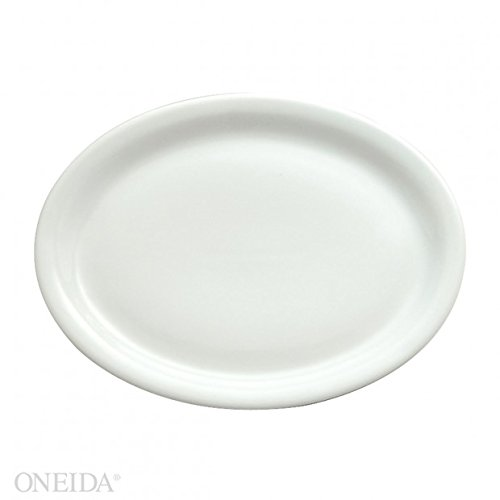 Oneida Foodservice F8010000359S Bright White Platter Rectangle 11 3/8 In (Set of 12)