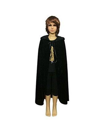 Labellevie Unisex Kids Velvet Hooded Cloak Cape Role Cosplay Costumes (Unisex Cloak Hooded Velvet)