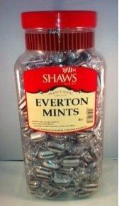 WJ Shaws Everton Mints 2Kg Jar Old Sweet Shop Style