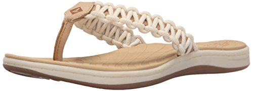 Open Seabrook Toe Sperry Leather Linen Current Casual Womens Iq1qxAw5X