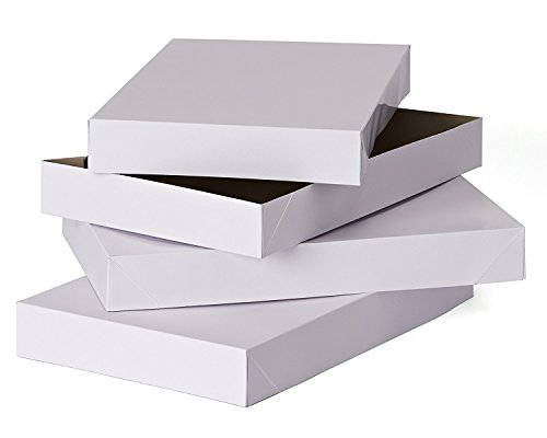 Hallmark Gift Box Set -- Pack of 12 Shirt Boxes with Lids for Wrapping Gifts (White)