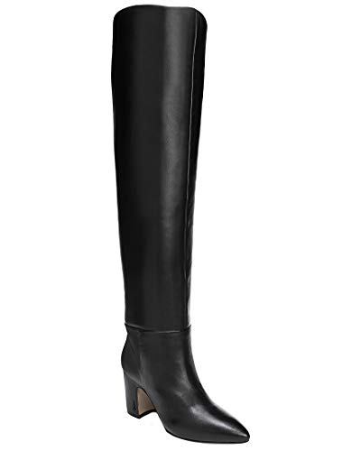 Sam Edelman Women's Hutton Knee High Boot, Black Leather, 8
