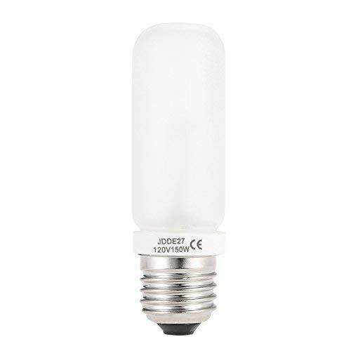 Andoer 2PCS JDD E27 150W Tube Lamp Bulb 100V-120V Studio Strobe Photography Flash Modeling Light