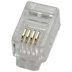 InstallerParts RJ22 4P4C Plug for Handset Flat Stranded Wire 100pk - 3g Handset
