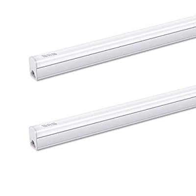 GRG Linkable LED Utility Shop Light, Garage Lights, 4Ft 20W 2200lm 6500K, T5 Integrated Single Fixture, LED Ceiling & Under Cabinet Light, T5 T8 Fluorescent Tube Light Fixture Replacement