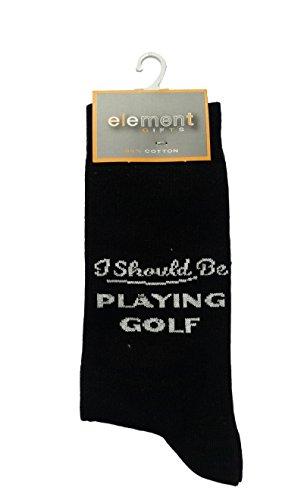 I Should Be PLAYING GOLF Cottonrich Unisex Novelty Ankle Socks Adult Size 6-11 ()