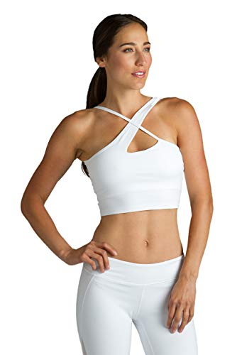 Warrior Victoria Yoga Crop Top (M, White)