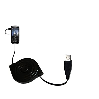 Blackberry Pearl 9100 wiried Gomadic compact and retractable USB Charge cable - a USB Power Port Ready design and uses TipExchange from Gomadic