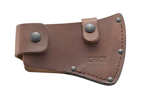 - CRKT Birler Axe Sheath: Full Grained Leather, Multiple Snaps, Belt Loops for Secure Carry of Axe, for Use with CRKT 2745 D2745