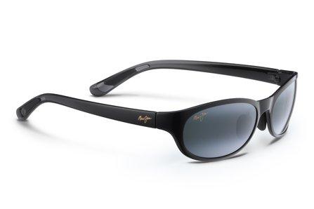 Maui Jim Unisex Pipiwai Trail Gloss Black Fade/Neutral Grey One - Mau Jim Sunglasses