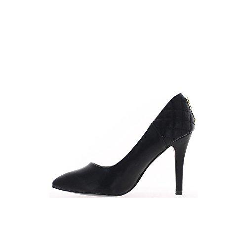Escarpins femme noirs hauts à talon de 10,5cm bouts pointus