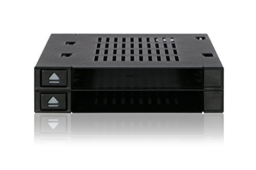ICY DOCK Dual Bay 2.5 to 3.5 SATA / SAS SSD/ HDD Trayless Hot-swap Dock / Mobile Rack For 3.5 Drive Bay - flexiDOCK MB522SP-B