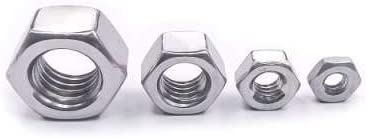 6# 32 Finished Hex Nuts 100 PCS by Eastlo Fastener Bright Finish,304 Stainless Steel 18-8