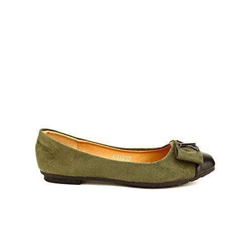 ededd018cbc40d 85%OFF Cendriyon, Ballerine Kaki CROSSME Chaussures Femme ...