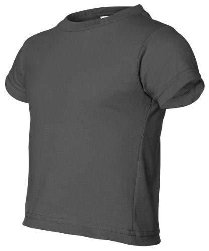 Rabbit Skins Little Boys Jersey T-Shirt (3301T)-Charcoal,4T