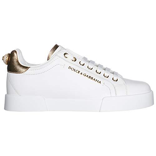 Dolce&Gabbana Women Portofino Sneakers Bianco/oro 9 US