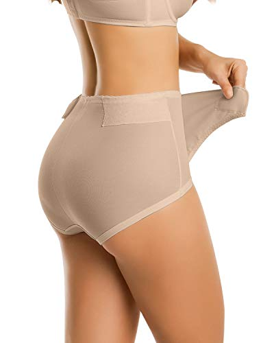 Leonisa Postpartum Girdle High Waist Panty with Adjustable Belly Wrap Belt for Women After Baby