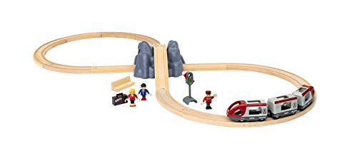 BRIO 33773 Railway Starter Set | 26 Piece Toy Train with Accessories and Wooden Tracks for Kids Age 3 and Up