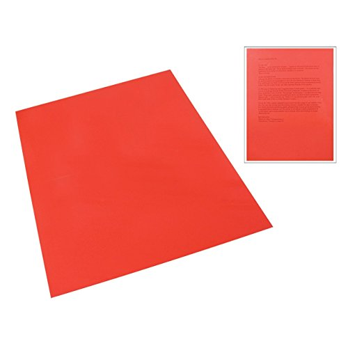 Plastic Reading Tinted (Red Tinted Plastic Reading Sheet)