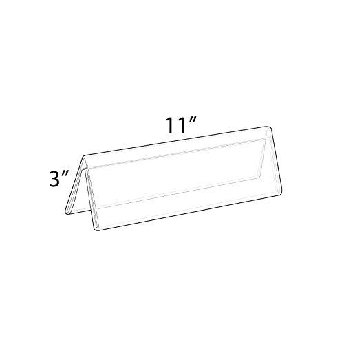Count of 10 Clear Acrylic Two-Sided Nameplate (11'' W x 3'' H)