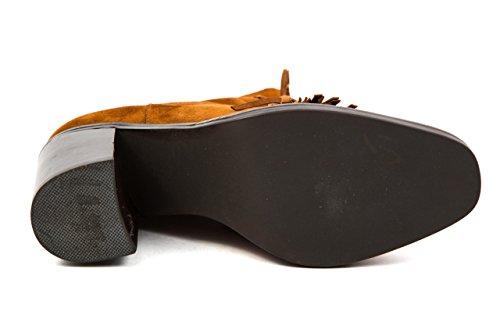 Jeffrey Campbell Damen Western Stiefel Stiefelette Fransen Gr. 37 Braun Cognac