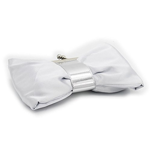 B-JOY - Cartera de mano para mujer morado morado mini Tasche plata