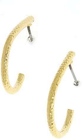 TRENDY FASHION JEWELRY TEXTURED AND CURVED LINE EARRINGS BY FASHION DESTINATION