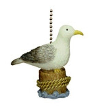 Coastal Beach Decor Seagull Ceiling Fan Light Pull