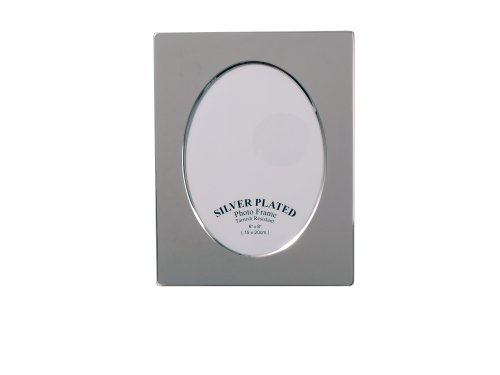 (Evergreen Tarnish Resistant Silver Plated Oval Design Photo/Picture Frame 6x8 inch (15x20cm))