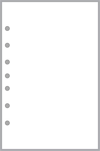 (Classic Size Blank Pages, Sized and Punched with 7 Holes for Franklin Covey Classic Notebook (5.5