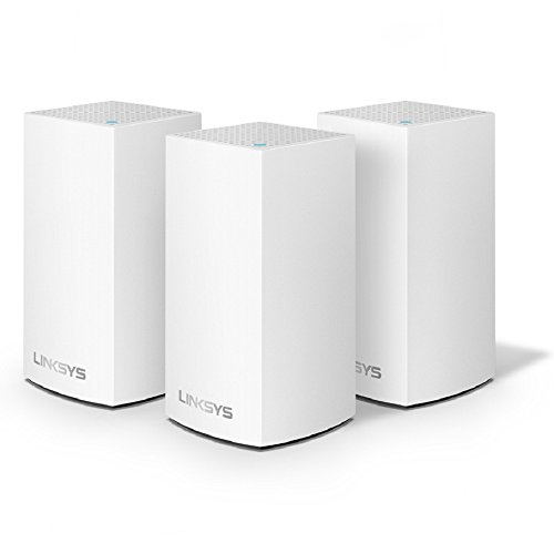 Linksys Velop Whole Home WiFi Intelligent Mesh System, 3-Pack/5+ bedrooms/large multi-story & patio, Easy Setup, Maximize WiFi Range & Speed for all your devices, Works with Alexa