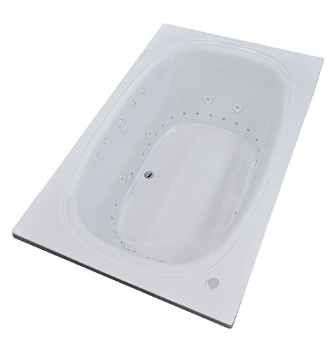 UPC 848308036969, Alberti 42 x 66 Rectangular Air & Whirlpool Jetted Drop-In Bathtub with Right Drain
