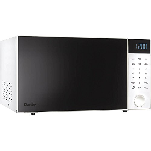 Danby Nouveau Wave 1.1 Cu. Ft. 1000W Countertop Microwave Oven in White by Danby