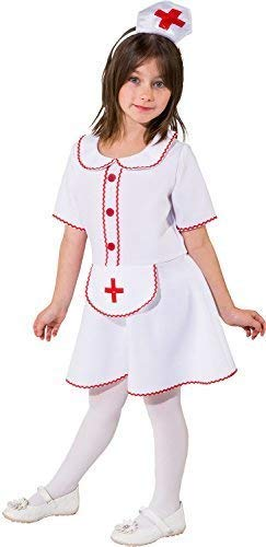 Girls Little Helper Nurse Job Occupation Emergency Services Uniform World Book Day Week Fancy Dress Costume Outfit (6-8 Years (128cm)) ()