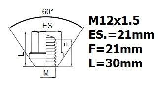 MAZDA MX5 de 2005 roue de blocage des /écrous M12x1,5
