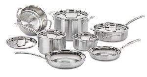 Premium Superior Quality Cuisinart MCP-12N MultiClad Pro Stainless Steel 12-Piece Cookware Set (Cuisinart Mcp Saute Pan compare prices)