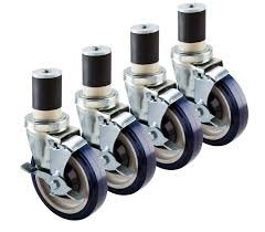 Delightful BK Resources Set Of 4u0026quot; Expandable Stem Work Table Casters With Brakes  Stem Caster For