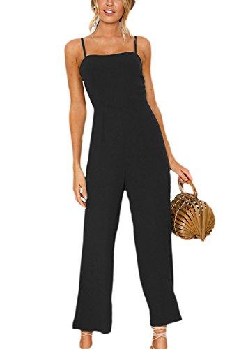 管理者農村チョーク女性のジャンプスーツ?カジュアルなスパゲッティストラップロングパンツの毎日のロンパース