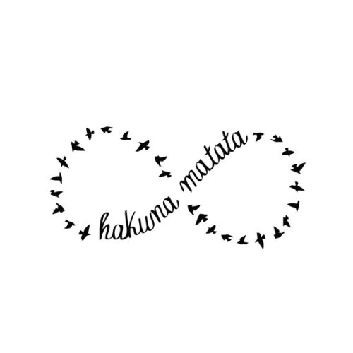 Tattify Hakuna Matata Temporary Tattoo Circle Of Life Set Of 2 Other Styles Available Fashionable
